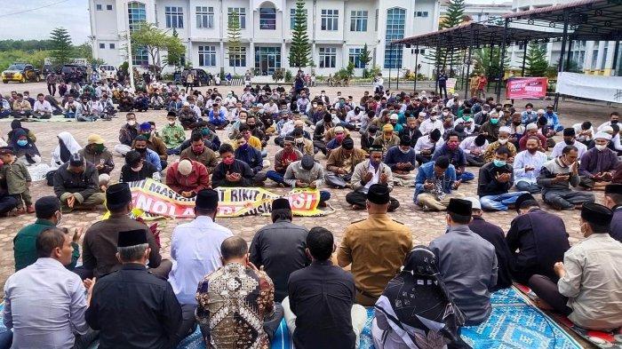 Kaum ibu Histeris Tolak Keputusan Surat Gubernur Aceh, Terkait Tapal Batas Bener Meriah-Aceh Utara