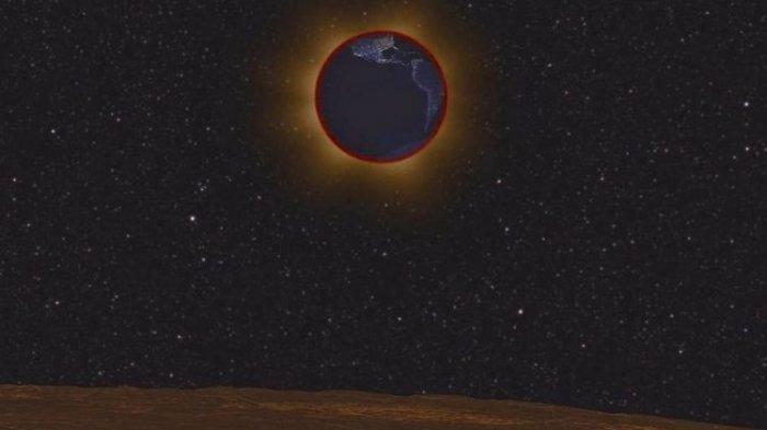 Begini Penampakan Blood Moon Ketika Dilihat dari Bulan
