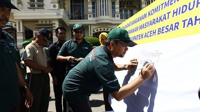 Bupati Aceh Besar Luncurkan Program GERMAS, Ini Harapan Mawardi Ali