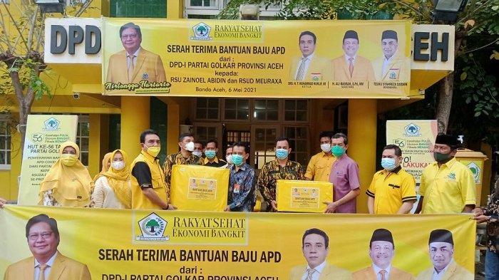 Lagi, Golkar Aceh Salurkan APD untuk Nakes RSUZA dan RSUD Meuraxa
