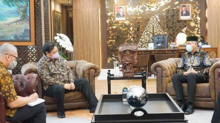 Gubernur Nova Laporkan Kondisi KEK Arun dan Investasi UEA ke Menko Perekonomian