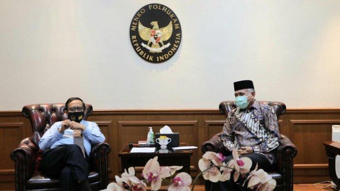 Gubernur Aceh Temui Menkopolhukam, Ini yang Dibahas