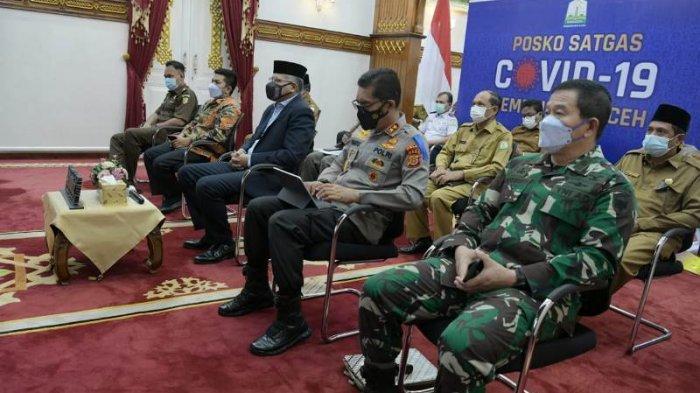 Gubernur Aceh Ikuti Rapat Penanganan Covid-19 Bersama Lintas Kementerian, Ini Pesan Mendagri