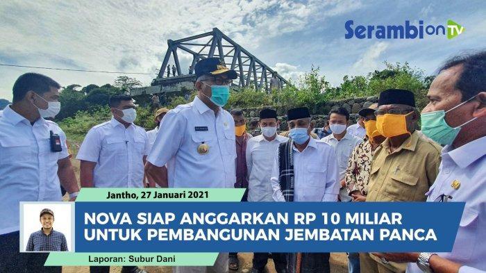 Pembangunan Jembatan Panca & Lamsie akan Lanjut, 15 Rumah Korban Tanah Bergerak Dibangun Bank Aceh