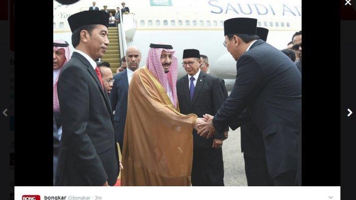 Foto Ahok Sambut dan Jabat Tangan Raja Salman di Depan Presiden Jokowi