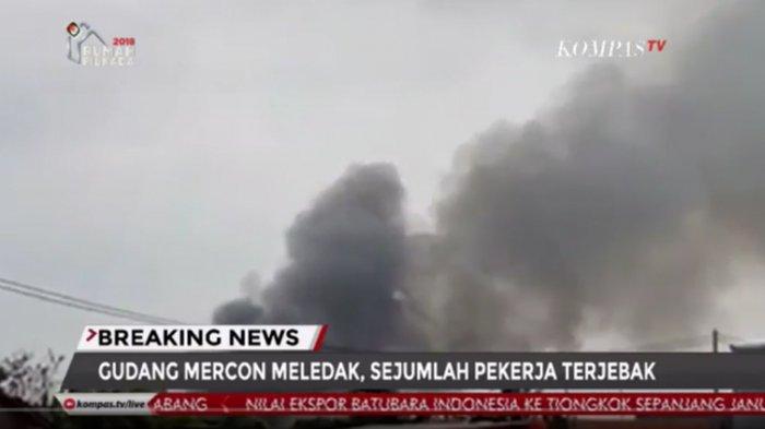 Gudang Mercon Meledak, 23 Orang Meninggal Terbakar dan Sulit Dikenali