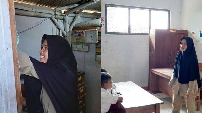 15 Tahun Jadi Guru Honorer dan Tinggal di Toilet Sekolah, Nining Hanya Digaji Rp 350.000