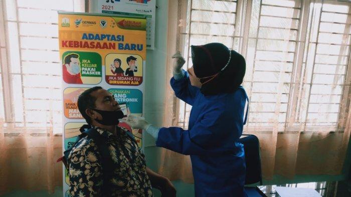 Peserta Ujian Seleksi PPPK Ikuti Test Swab Antigen di Dinkes Aceh Tenggara