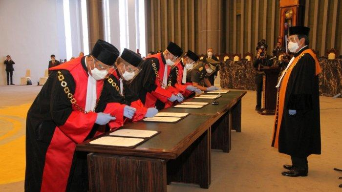 Ketua MA Lantik Gusrizal Sebagai Ketua PT Banda Aceh, Ini Pesannya Saat Pelantikan Bersama 3 Lainnya