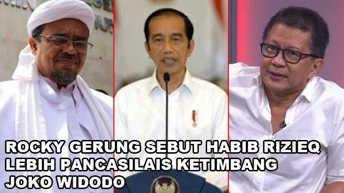 Bandingkan Habib Rizieq dengan Jokowi, Rocky Gerung Sebut HRS Lebih Pancasilais, Ini Alasannya