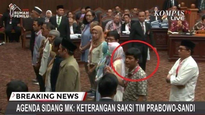 Bersaksi untuk Paslon 02, Hairul Anas Beberkan Materi Pelatihan TKN di Sidang MK