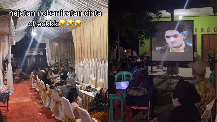 Viral Saat Acara Hajatan Justru Diputar Drama Sedang Naik Daud, Jadi Nobar Layaknya di Layar Tancap