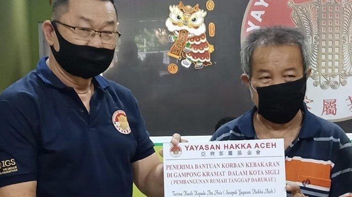 Yayasan Hakka Bantu Pembangunan Rumah Tanggap Darurat Korban Kebakaran di Pidie