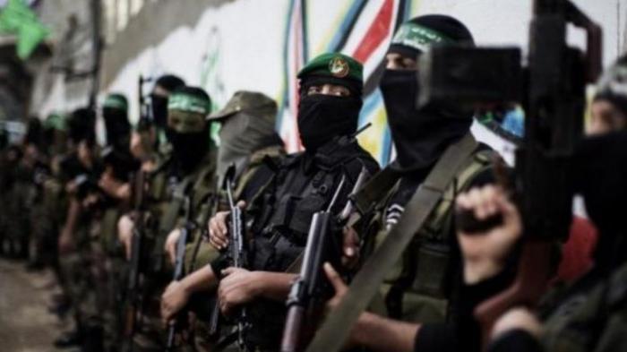 Anggota brigade Ezzedine al-Qassam, sayap militer Hamas yang menguasai Jalur Gaza.