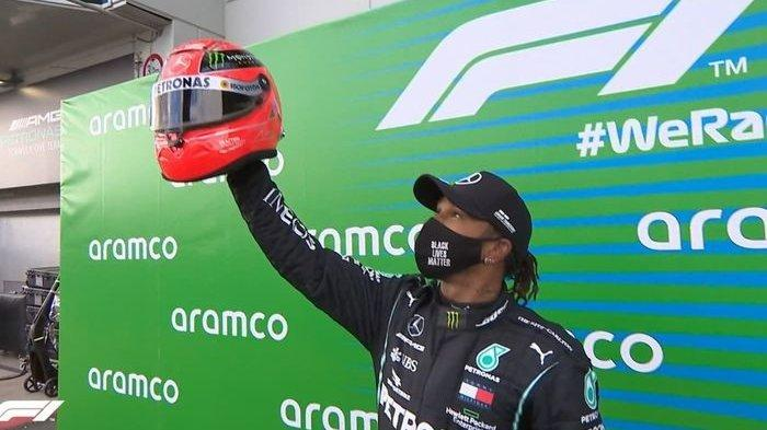 Wow Lewis Hamilton Sejajarkan Diri Dengan Michael Schumacher Usai Samai Rekor F1 Ini Halaman All Serambi Indonesia