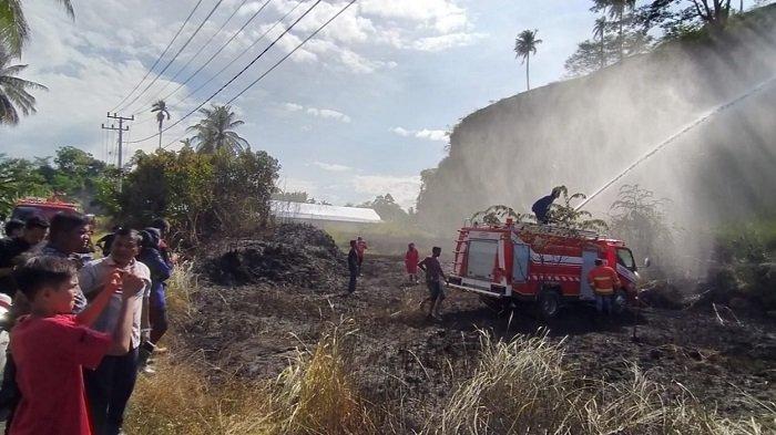 Kebakaran Lahan Kembali Terjadi di Bireuen, Lima DamkarBerjibaku PadamkanApi