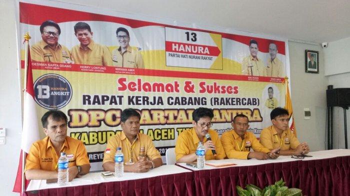 Hanura Aceh Timur Gelar Rakercab, Ini Program Kerja yang Dibahas