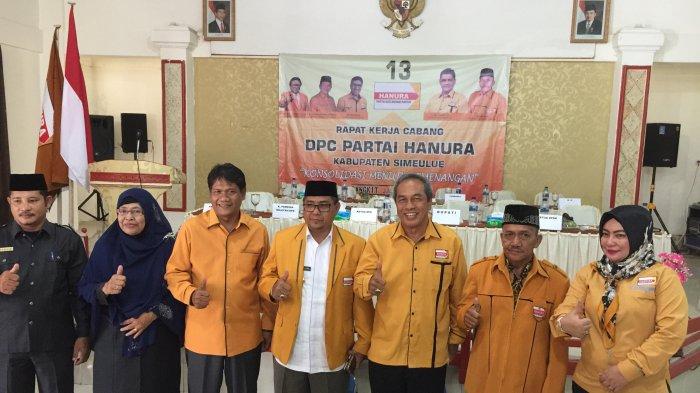 Hadapi Pemilu 2019, DPC Hanura Simeulue Gelar Rakercab