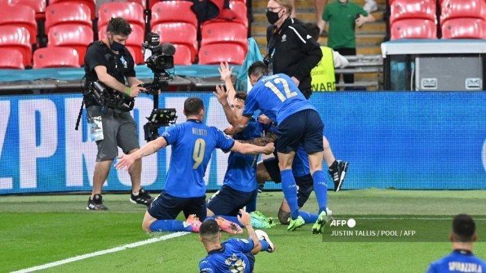 Hasil Euro 2020 - Italia Susah Payah Menang di Babak Extra Time, Dua Lawan Kuat Menanti Gli Azzurri