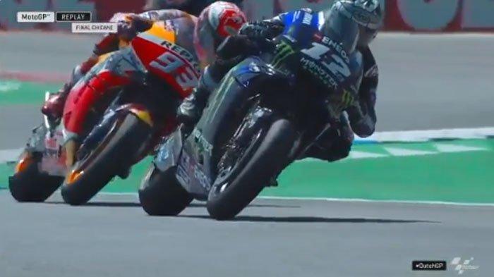 Hasil MotoGP Belanda 2019 - Asapi Marc Marquez, Maverick Vinales Juara, Valentino Rossi Jatuh Lagi