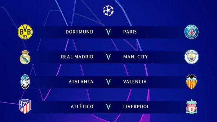 Hasil Undian dan Jadwal Babak 16 Besar Liga Champions - Real Madrid Vs Man City, Napoli vs Barcelona