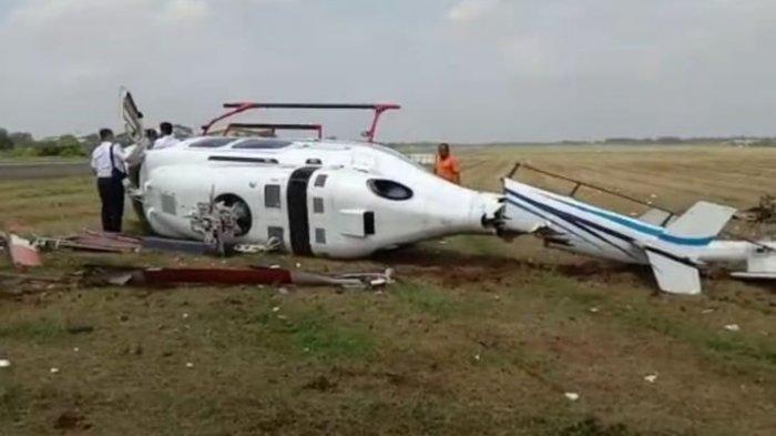 Helikopter Jatuh Terguling di Tangerang, Penumpang Luka Ringan, Kemenhub: Jatuh saat Latihan Rutin