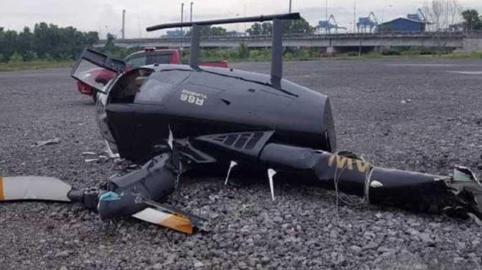 Helikopter Pribadi yang Diterbangkan Pria 73 Tahun Jatuh di Area Terbuka, Dua Korban Luka-luka