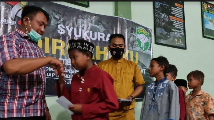 Santuni Anak Yatim Warnai HUT ke-75 POMAD Subdenpom IM/1-3 Sigli