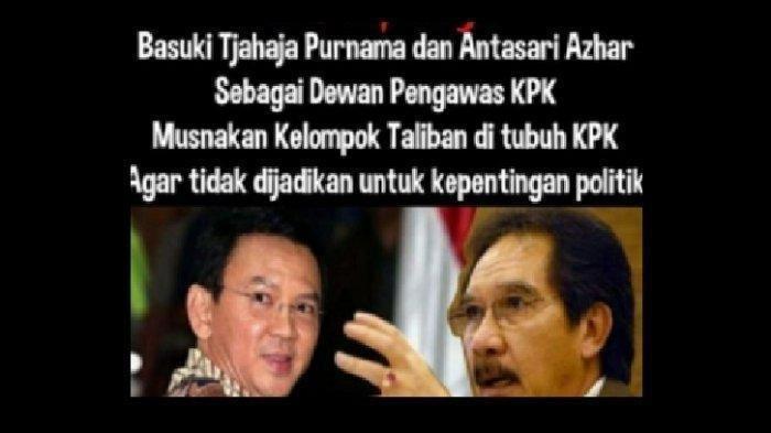 Dewan Pengawas KPK Ditunjuk Langsung Oleh Jokowi, Benarkah Ahok dan Antasari Azhar jadi Kandidat?