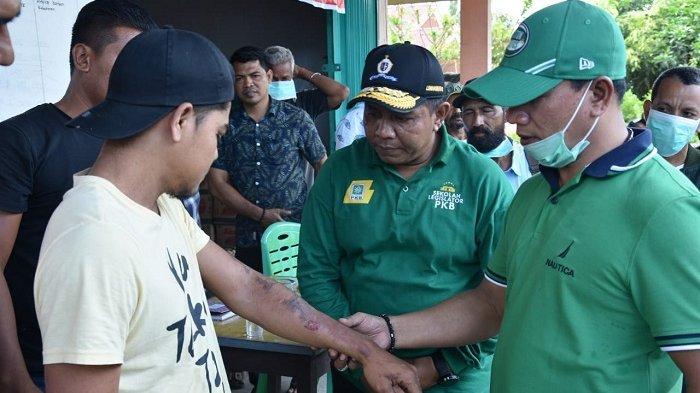 HRD Kunjungi Korban Kebakaran di Gampong Pulau Ara Bireuen