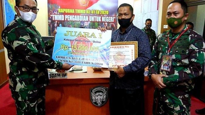Jurnalis Serambi Juara I Lomba TMMD ke-109