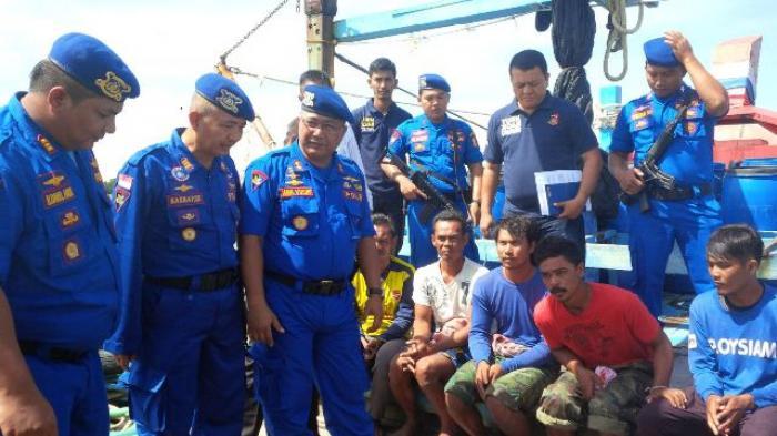 Polair Polda Aceh Tangkap Kapal Ikan Thailand