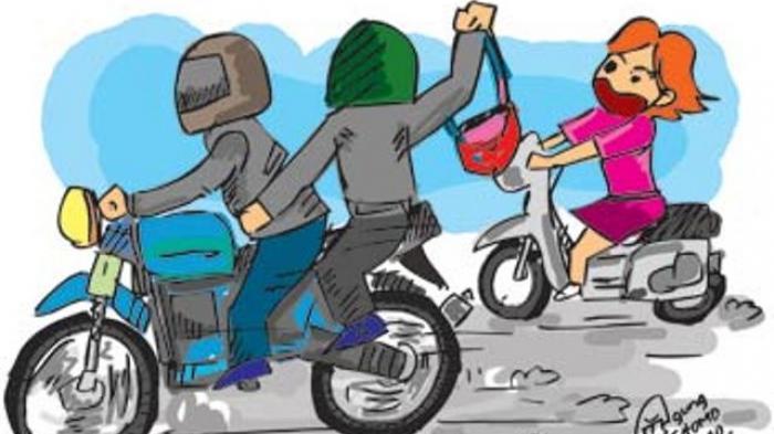 Pepet dan Jambret Ibu Muda di Jalan Raya, Dua Pemuda Wih Pesam Dibekuk Polisi