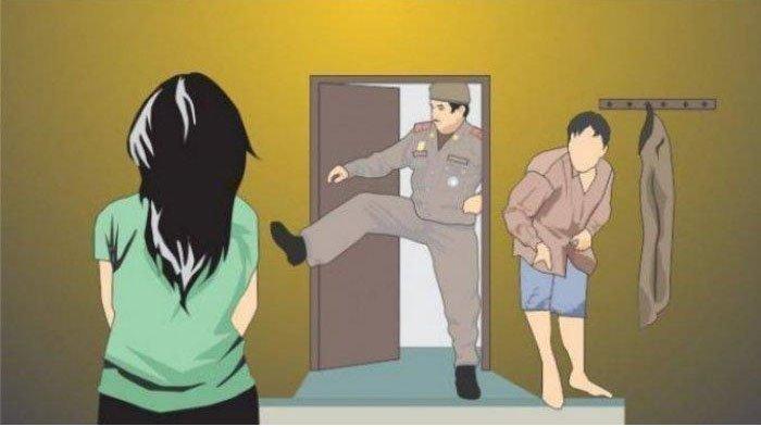 Oknum Polisi Digerebek Tidur Bersama Istri Orang di Kamar, Brigadir ET Diamankan, Suami Lapor Propam