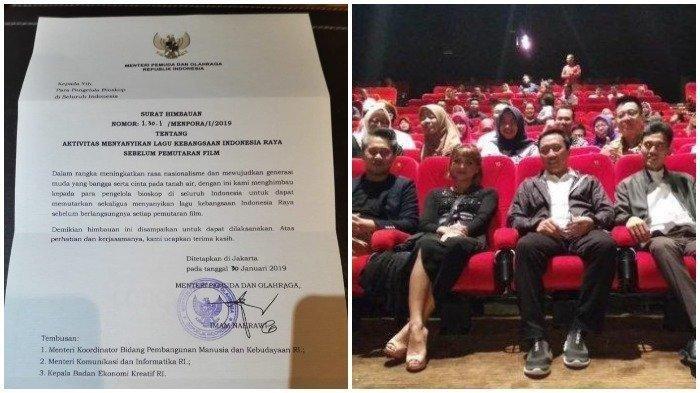 Imbauan Nyanyikan Lagu Indonesia Raya di Bioskop, Begini Tanggapan Sejumlah Pihak