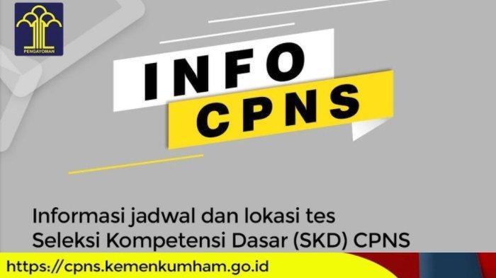 INFORMASI BARU! Ujian SKD CPNS Kemenkumham Dimulai 20 September, Ini Kabar Resminya