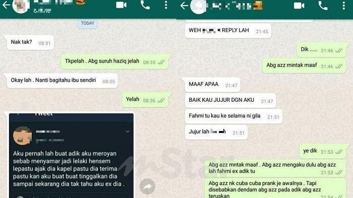 Viral Pria Ini Ceritakan Pengalaman Pacari Adik Sendiri, Sebar Isi Chat WhatsApp Setelah Jadi Mantan