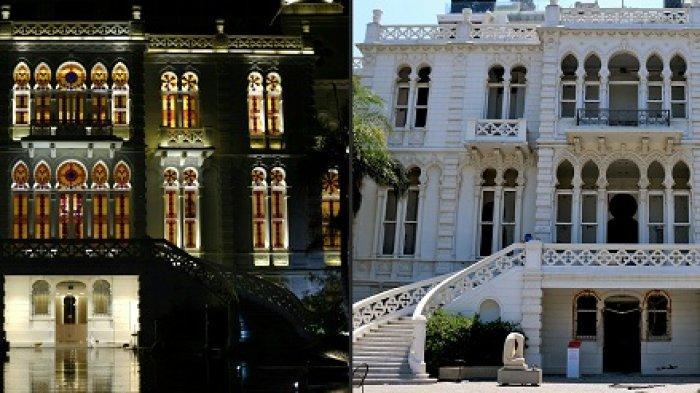 Istana 160 Tahun Rusak Diguncang Ledakan Dahsyat Beirut, Sempat Bertahan Dalam Dua Perang Dunia