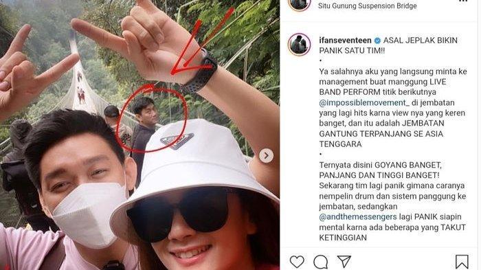 Posting Foto di Jembatan Gantung, Netizen Malah Salah Fokus dengan Sosok di Belakang Ivan Seventeen