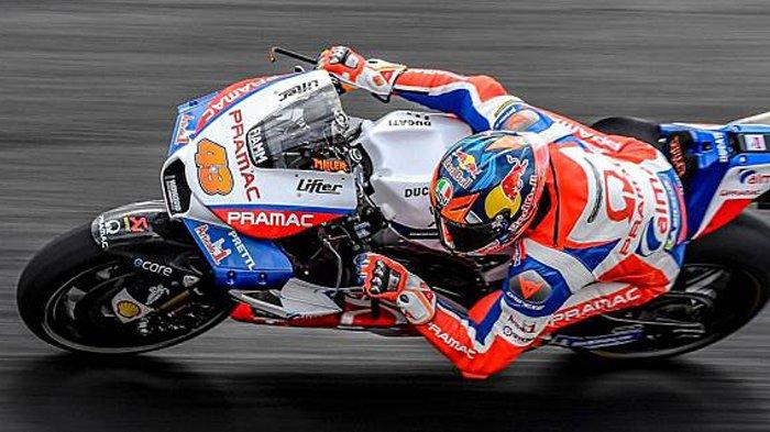 Hasil FP3 MotoGP Qatar 2021 - Pembalap Ducati Lenovo Jack Miller Kecelakaan di Tikungan