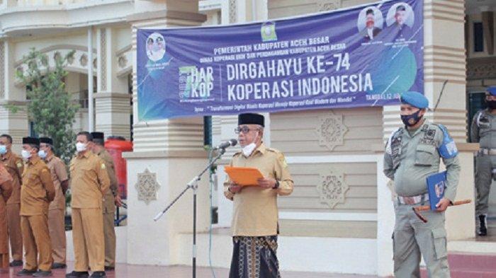 Wabup Aceh Besar Pembina Apel Hari Koperasi