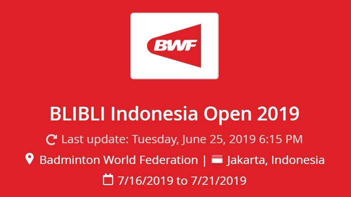 Hasil Drawing Badminton Indonesia Open 2019, Marcus/Kevin Dkk Hadapi Para Pebulutangkis Ternama