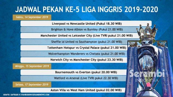 Jadwal Lengkap Liga Inggris Pekan Ini - Liverpool vs Newcastle United, Man United Vs Leicester City