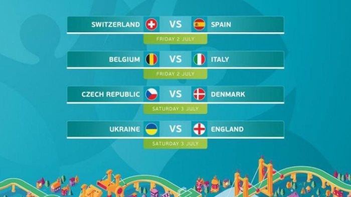 Jadwal Perempat Final Euro 2020 - Swiss vs Spanyol Jadi Laga Pembuka, Disusul Italia vs Belgia