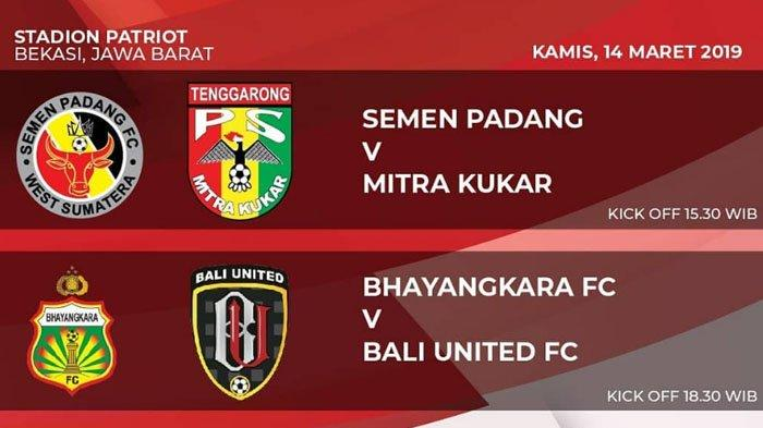 Jadwal Piala Presiden 2019 Bali United Vs Bhayangkara FC Hari Ini, Laga Perebutan Tiket 8 Besar