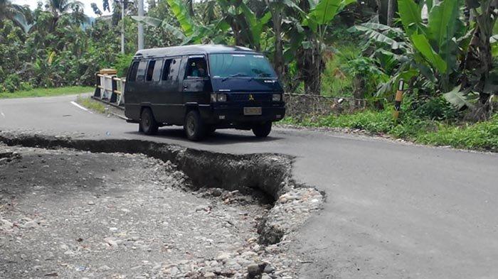 Bahaya! Jalan Nasional Km 12 Bireuen-Takengon Terancam Putus, Amblas Sedalam 1 Meter