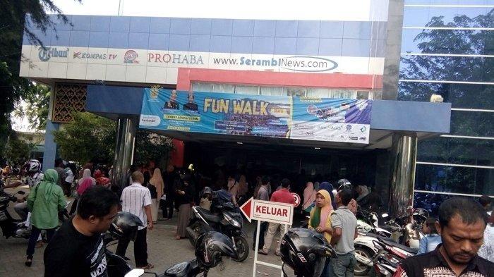 Kantor Serambi Indonesia 'Diserbu', Pendaftar Jalan Santai HUT Kota Banda Aceh Capai 24.300 Orang