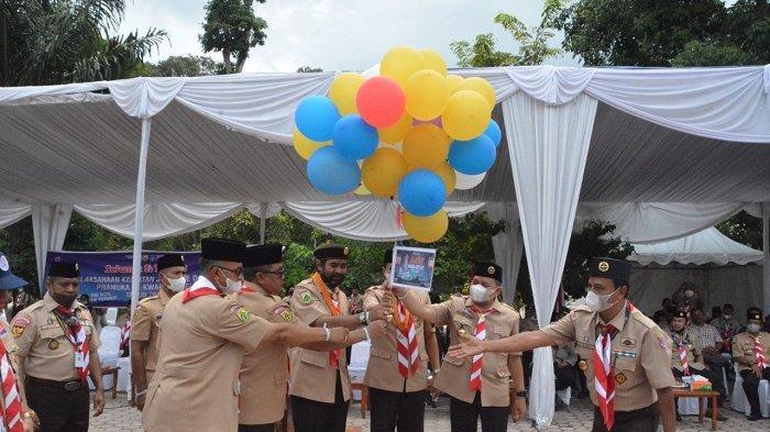 Jamda Gerakan Pramuka Kwarda Aceh di Taman Hutan Kota Langsa Hingga 1 Oktober, Ini Pesan Mualem