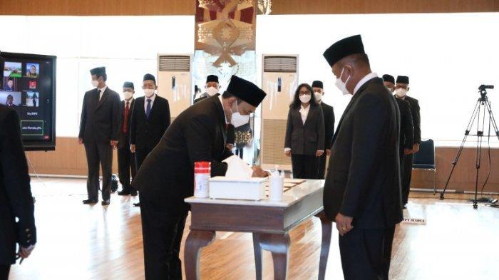Putra Aceh Dilantik Sebagai Deputi Rehabilitasi dan Rekonstruksi BNPB-RI, Ini Pesan Kepala BNPB-RI