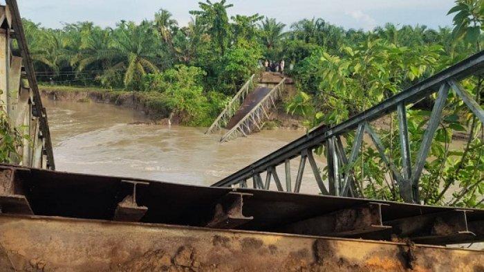 Jembatan Bailey Putus, 2 Desa Terisolir, Warga Kesulitan Jual Hasil Bumi dan Penuhi Kebutuhan Hidup